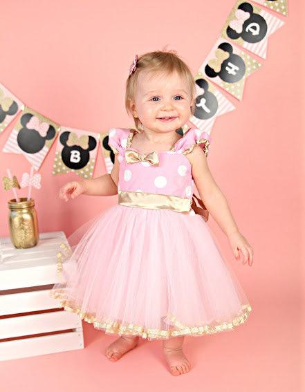 Vestido infantil para aniversário de 1 ano