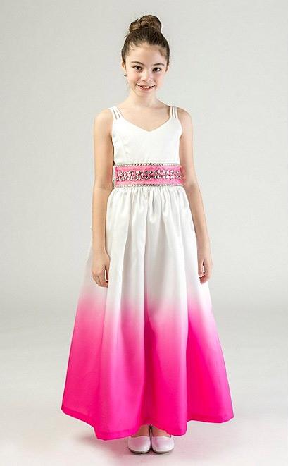 Modelo de vestido longo infantil