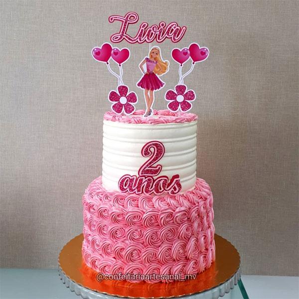 Bolo de aniversário infantil feminino